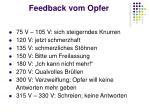 feedback vom opfer