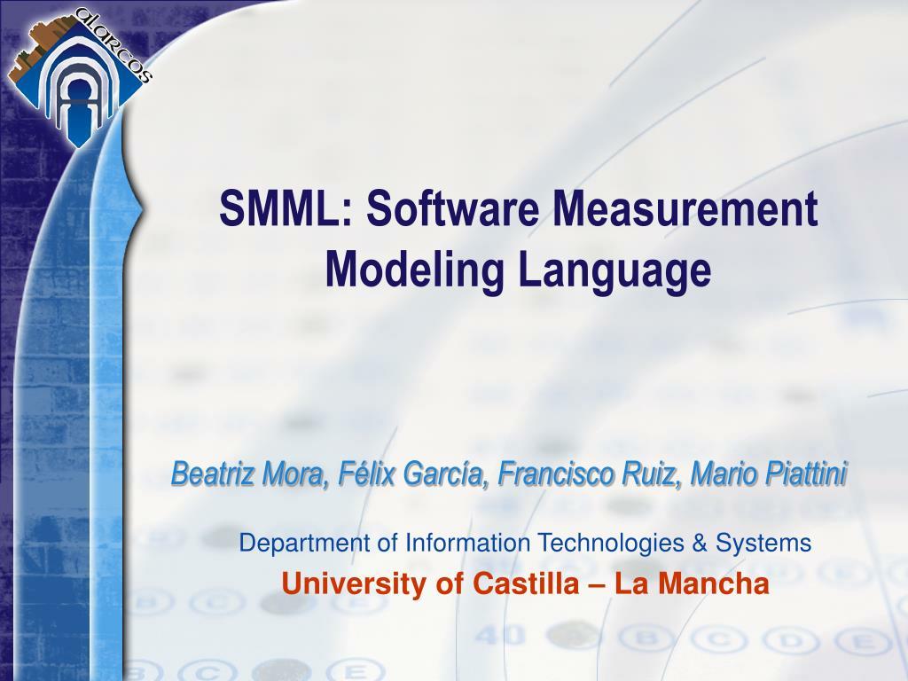 smml software measurement modeling language l.