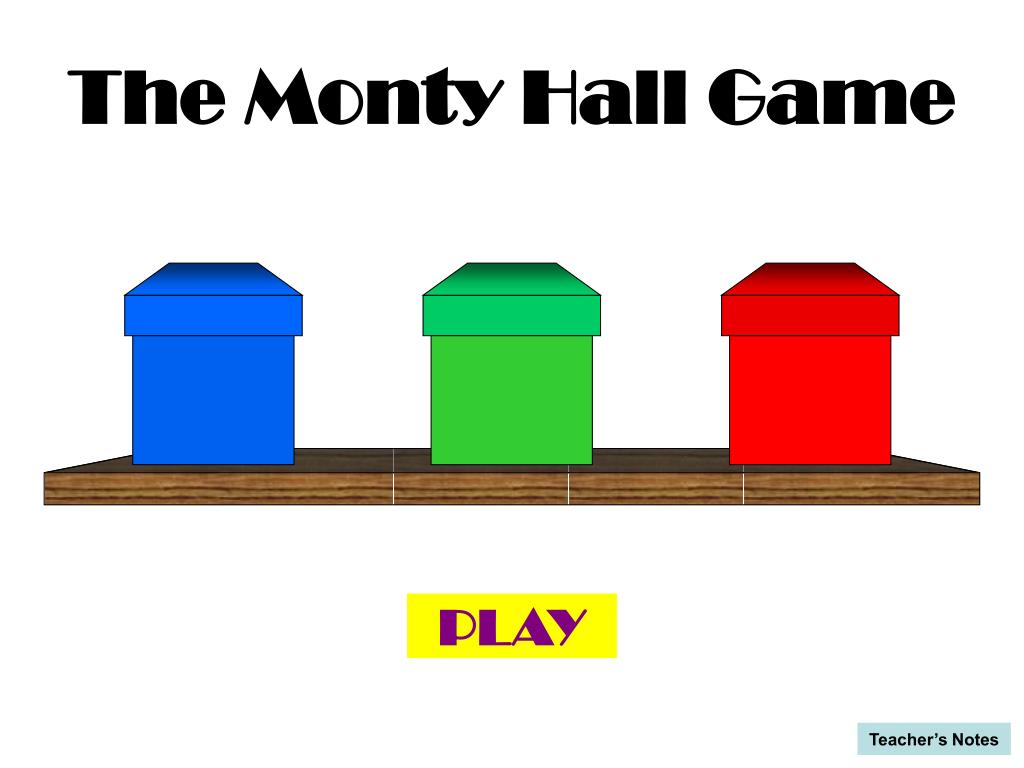 the monty hall game l.