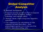 global competitor analysis
