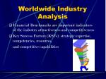 worldwide industry analysis13