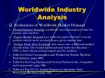 worldwide industry analysis5