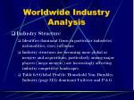 worldwide industry analysis7