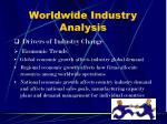 worldwide industry analysis9