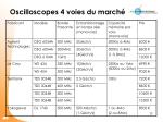 oscilloscopes 4 voies du march