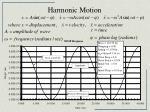 harmonic motion