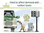 hard to affect demand with carbon taxes