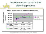 include carbon costs in the planning process