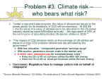 problem 3 climate risk who bears what risk