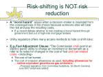risk shifting is not risk reduction