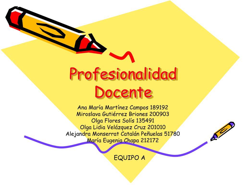 profesionalidad docente l.