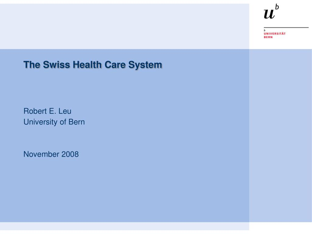 the swiss health care system l.