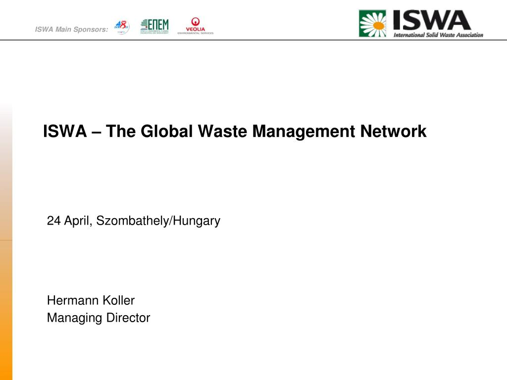 iswa the global waste management network l.