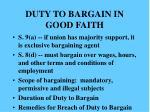 duty to bargain in good faith