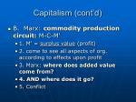 capitalism cont d