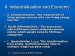 ii industrialization and economy
