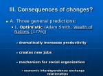 iii consequences of changes