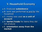 v household economy