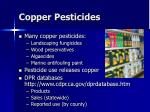 copper pesticides