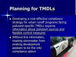 planning for tmdls