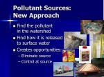 pollutant sources new approach