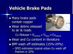 vehicle brake pads