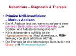 nebenniere diagnostik therapie