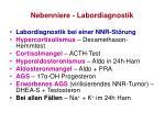 nebenniere labordiagnostik