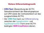 weitere differentialdiagnostik