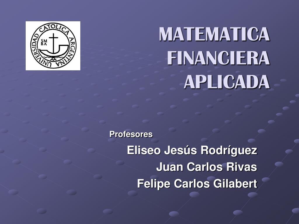 matematica financiera aplicada l.