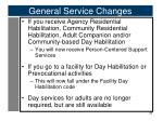 general service changes1
