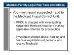 member family legal rep responsibilities
