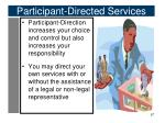 participant directed services1