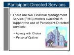 participant directed services4