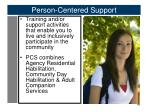 person centered support