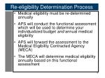 re eligibility determination process