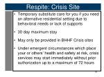 respite crisis site