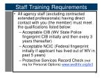 staff training requirements1
