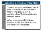 traditional service delivery model1