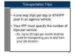transportation trips