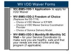 wv i dd waiver forms1