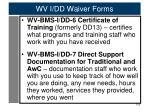 wv i dd waiver forms3