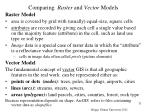 comparing raster and vector models