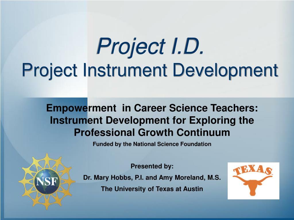 project i d project instrument development l.