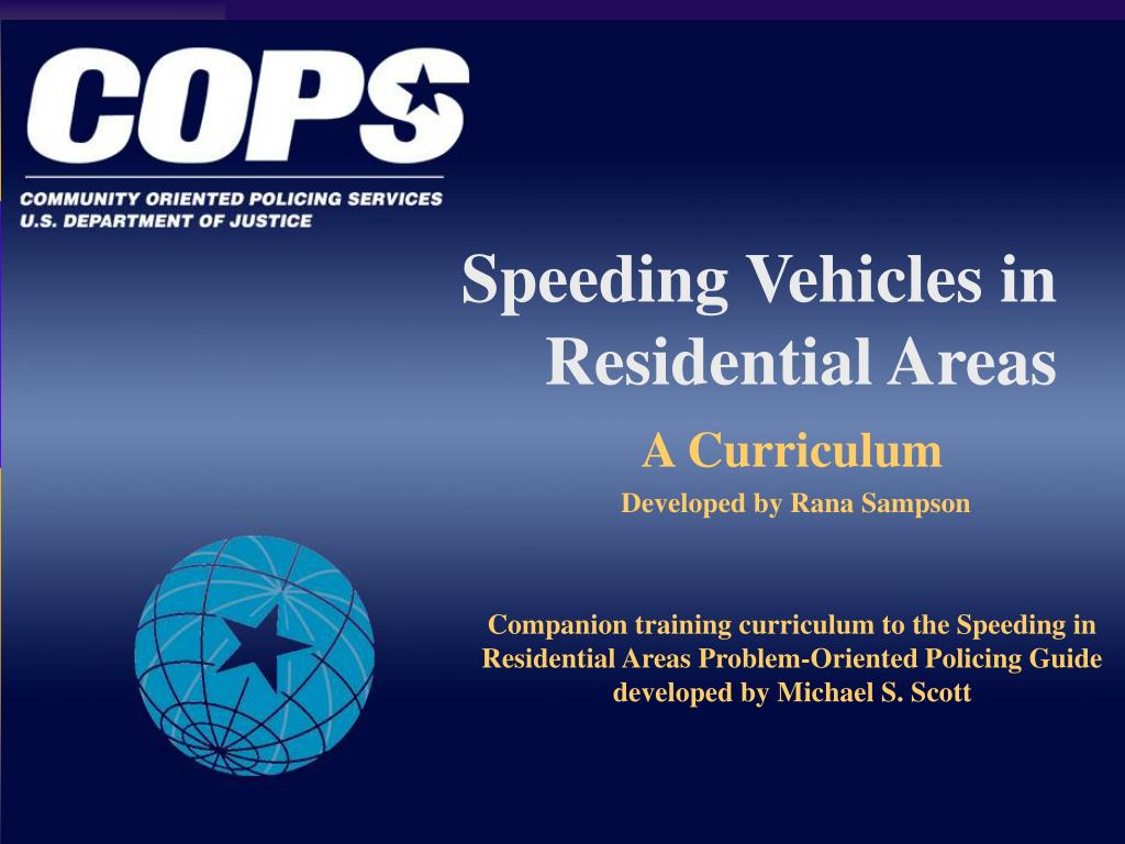 speeding vehicles in residential areas l.