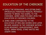 education of the cherokee