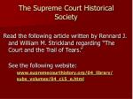 the supreme court historical society