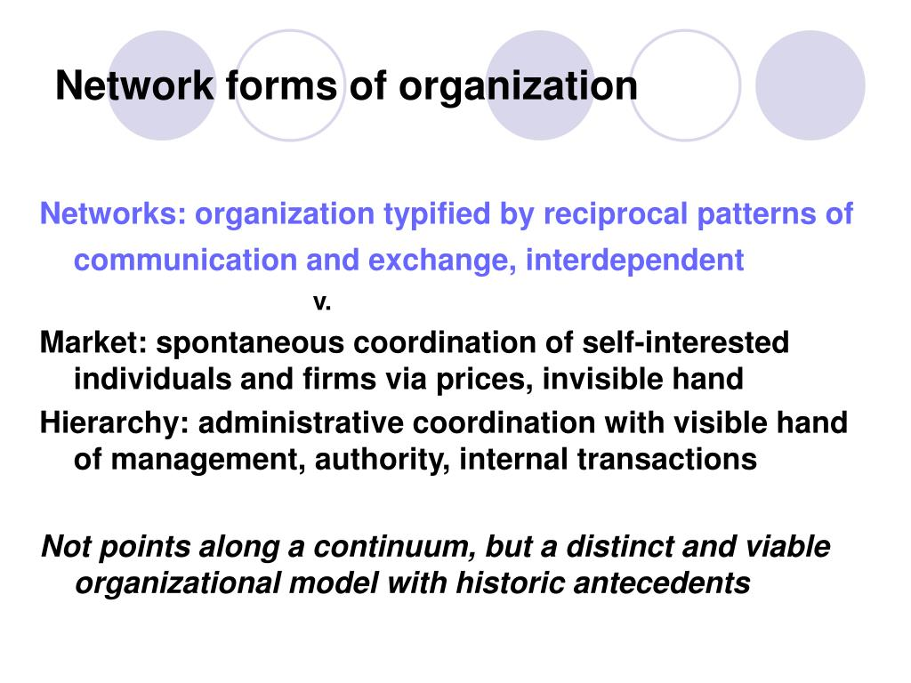Network forms of organization