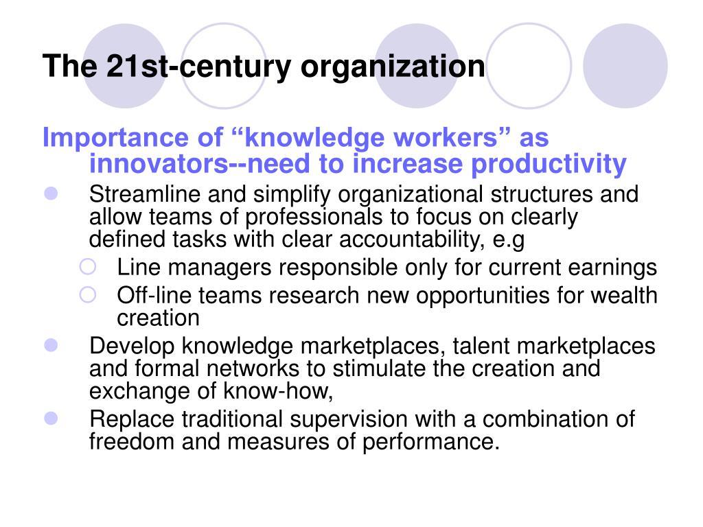 The 21st-century organization