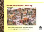 community district heating